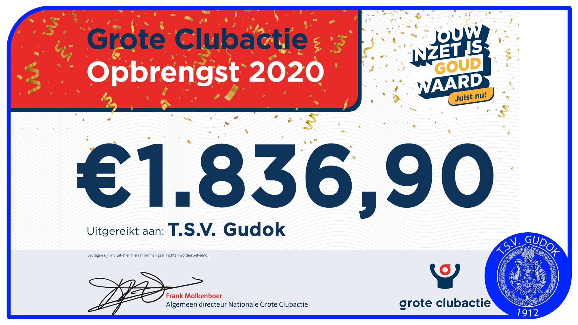 Grote Clubactie Opbrengst 2020!!!