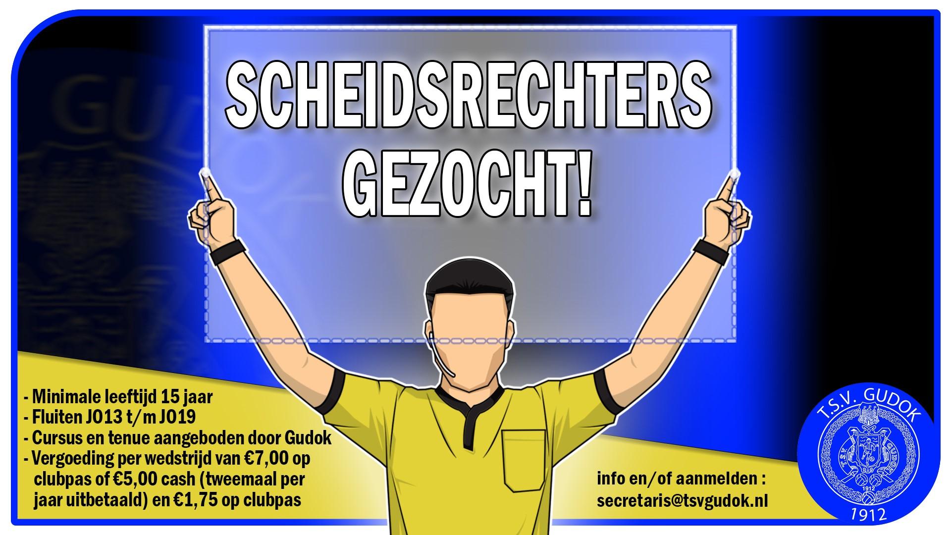 Scheidsrechters gezocht!!!
