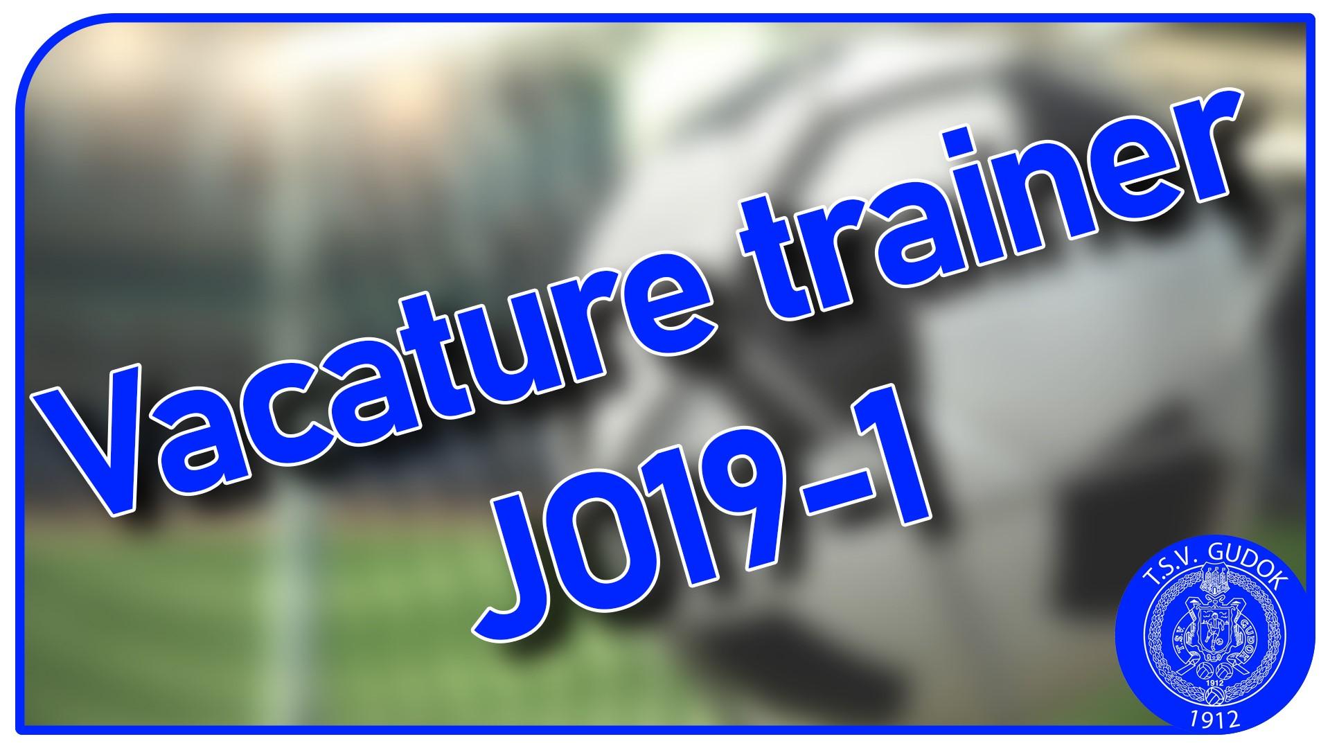 Vacature trainer JO19-1