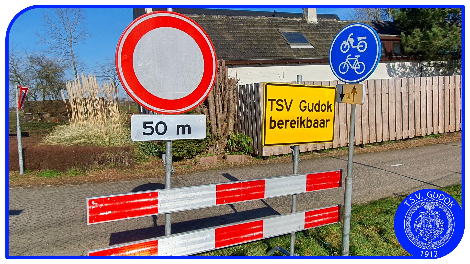 TSV Gudok met auto en fiets moeilijker bereikbaar