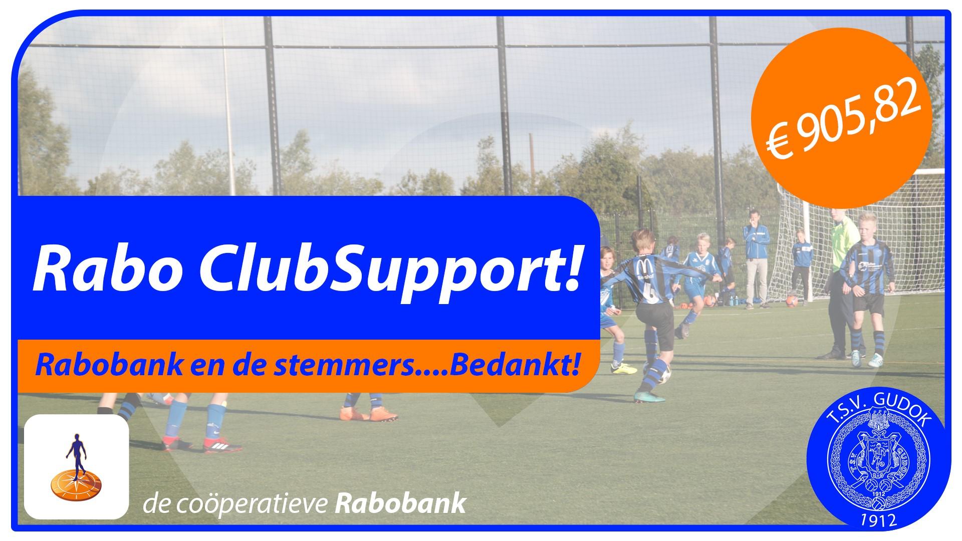 Rabo ClubSupport einduitslag.