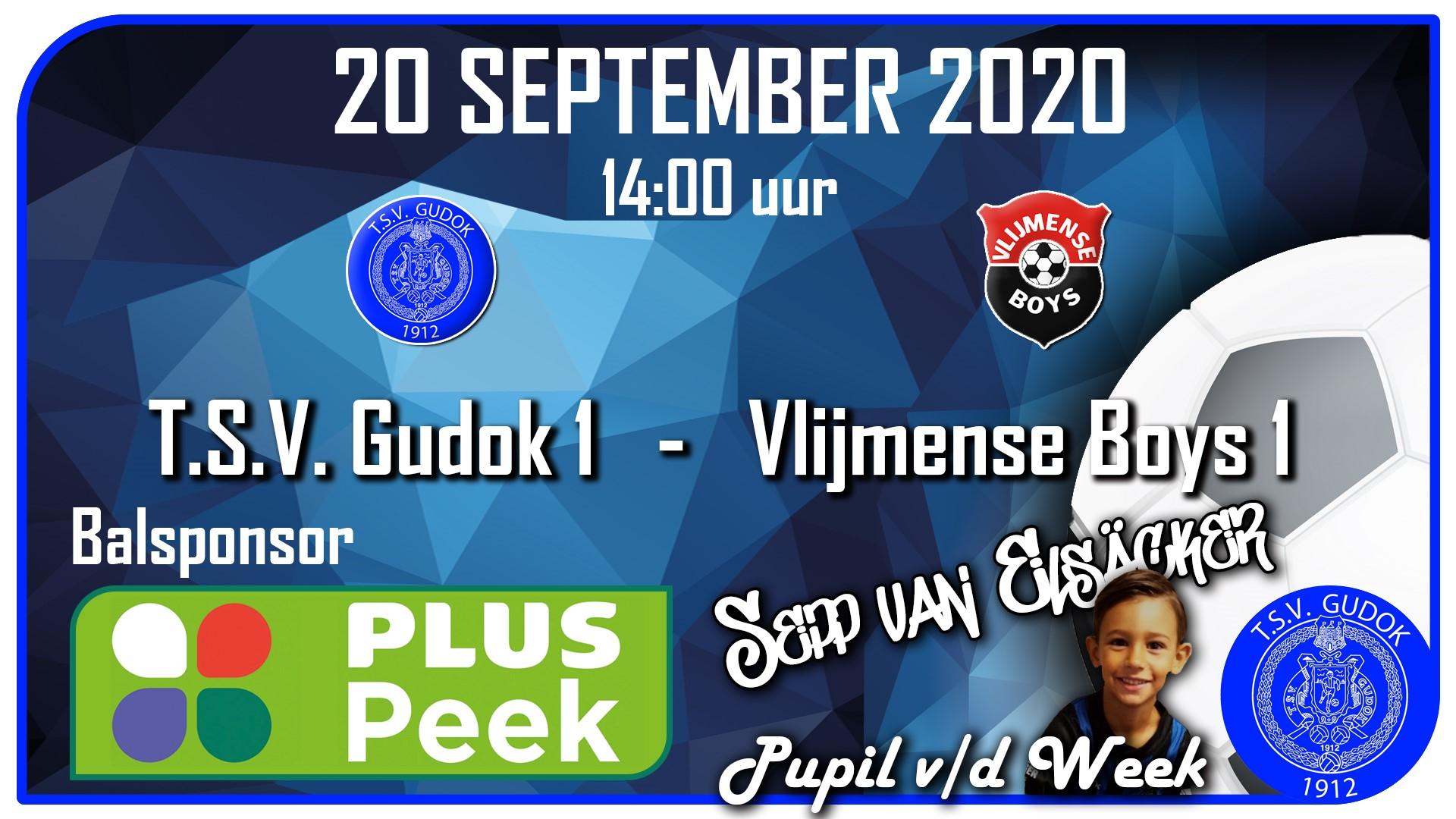 TSV Gudok 1  -  Vlijmense Boys 1     20-09-2020